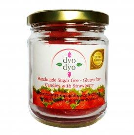 DYO Dyo strawbery, δυο δυο φράουλα, καραμέλες χωρίς ζάχαρη