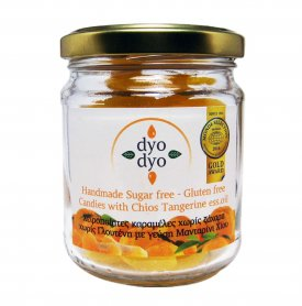 ΔΥΟ ΔΥΟ ΜΑΝΤΑΡΙΝΙ, ΚΑΡΑΜΕΛΕΣ ΜΑΝΤΑΡΙΝΙ ΧΙΟΥ ΧΩΡΙΣ ΖΑΧΑΡΗ, dyo dyo tangerine flavour